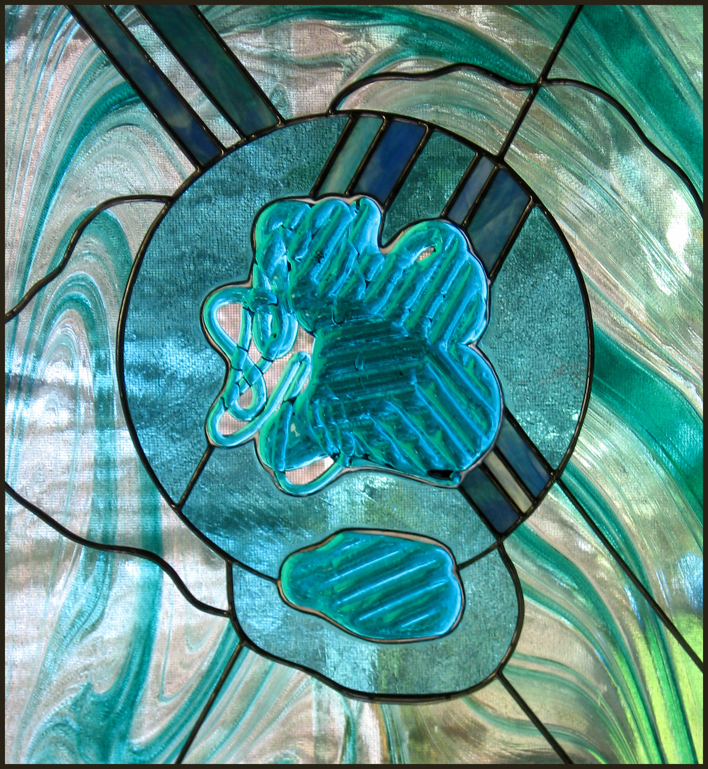 stained glass abstract tiles - photo #23