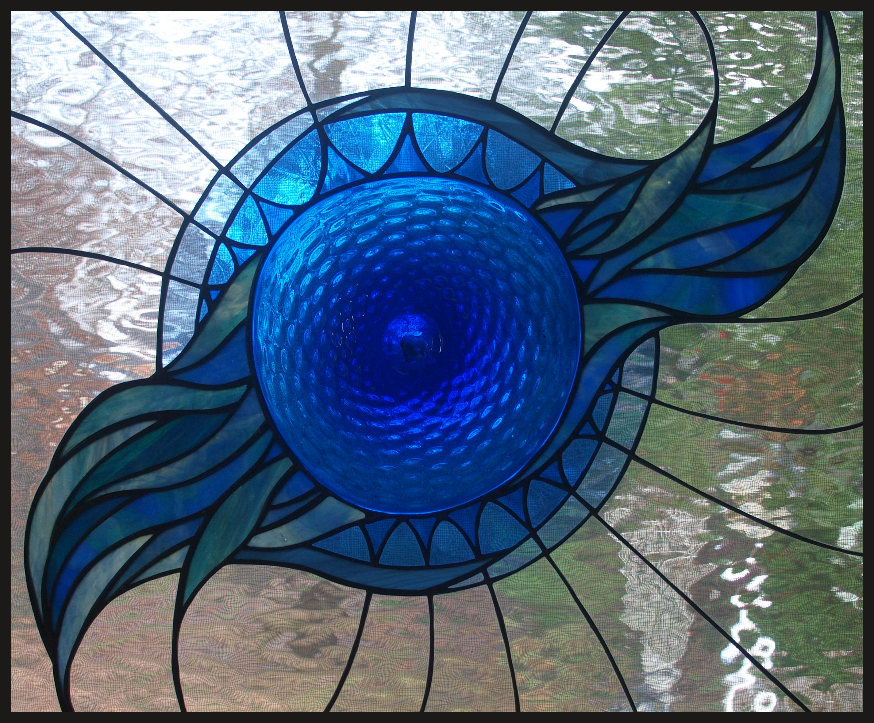 Hummingbird Plant Stained Glass